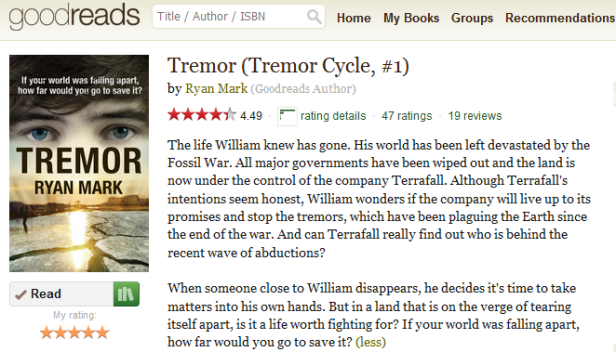 Click on the image to visit Tremor's Goodreads page