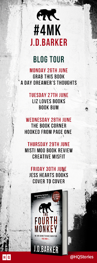 The Fourth Monkey - Blog Tour Banner